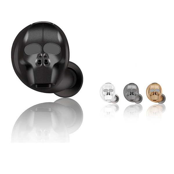 SK20 Skull Mini auriculares estéreo Bluetooth inalámbricos V4.1 Auricular manos libres Bluetooth Conectar con 2 teléfonos para iPhone Samsung