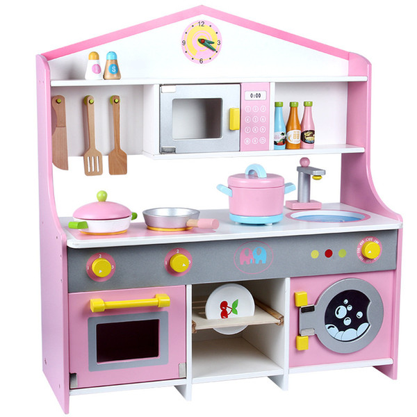 New children Japanese style wooden kitchen toys simulation kitchen cooking toy kids pretend play toys