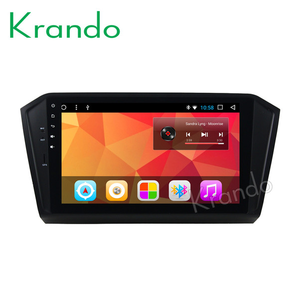 """Krando Android 8.1 10.1"""" Big Screen Full touch car dvd Multimedia system audio player for VW PASSAT 2015+ navigation player gps wifi"""