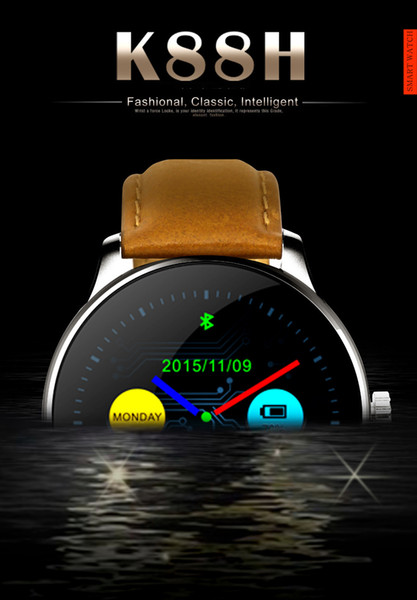 K88H Hot-selling Business Fashion Touch Screen Intelligent Waterproof Watch Healthy Heart Rate Monitoring Kinemometer Support Dual System Fu