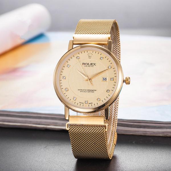2019 Mujeres de rol al por mayor y correa de caucho para hombre Reloj BIG BANG Movimiento de cuarzo Reloj de diamante masculino Reloj deportivo