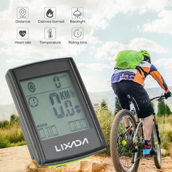 Wireless Bicycle Computer w//Cadence Speedometer Bike Odometer Calories Monitor