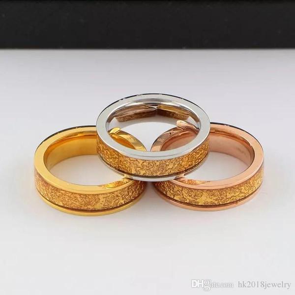 Atacado de moda de titânio de aço das mulheres dos homens anel de amor de casamento jóias de marca famosa bulgária estilo dedo anel casal presente