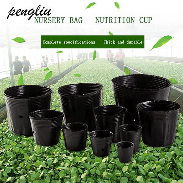 Pots Planters potes berçário caixa pote de plástico plantar sementes Propagação Container crescer Bag Garden Supplies plugue pot Flower