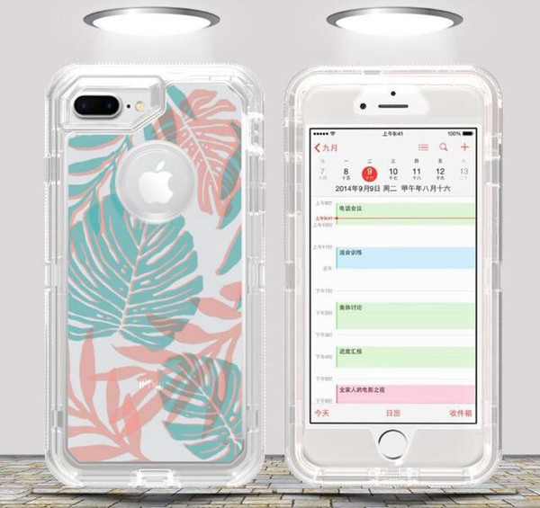 New Type of Transparent Printing Patterns for Three Anti-falling Mobile Shells Full-enclosed Protective Cover wholesale for iPhone X XS