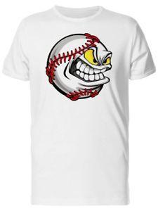 Kızgın beyzbol yüz çizgi film erkek 039 s Tee görüntü kısa kollu tarafından