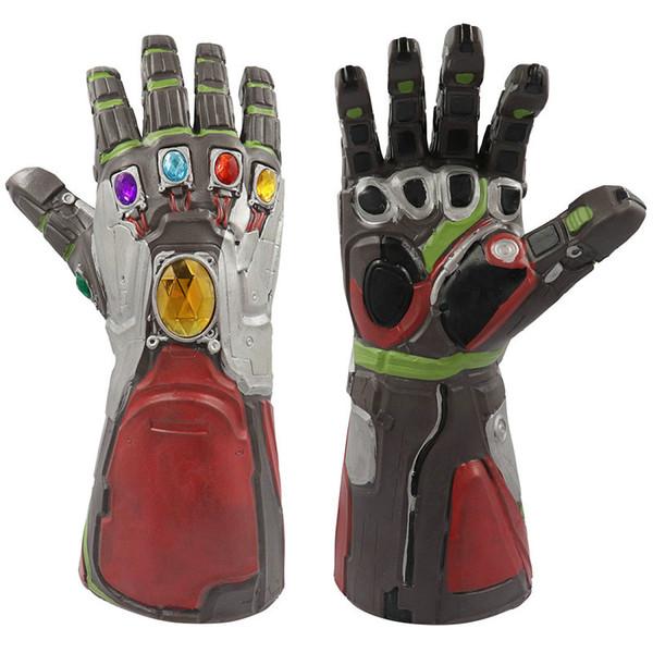 Мстители 4 Эндшпиль Супергерой Халк Арм Танос Натуральные Латексные Перчатки Железный Человек Рукавицы Бесконечности Дети Взрослые Фигурку Игрушки Хэллоуин Косплей