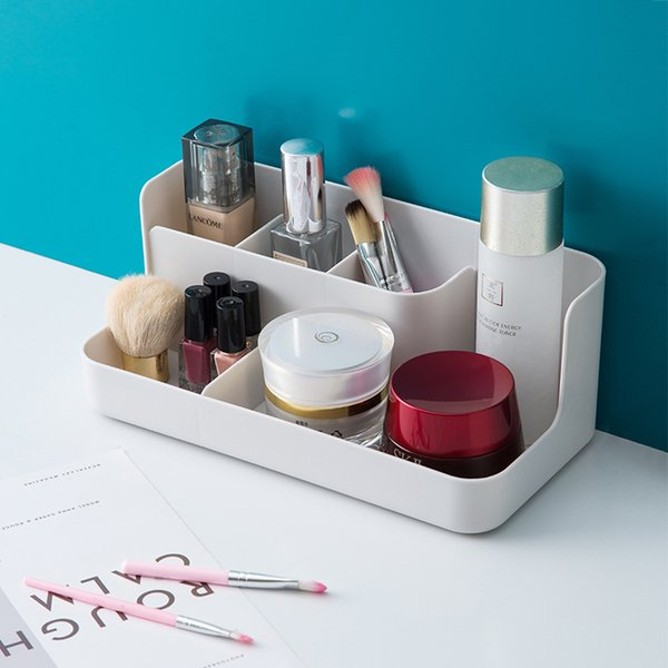 Makeup Organizer Bathroom Storage Box Cosmetic Organiser Office Desktop Make Up Jewelry Storage Box Sundries Container