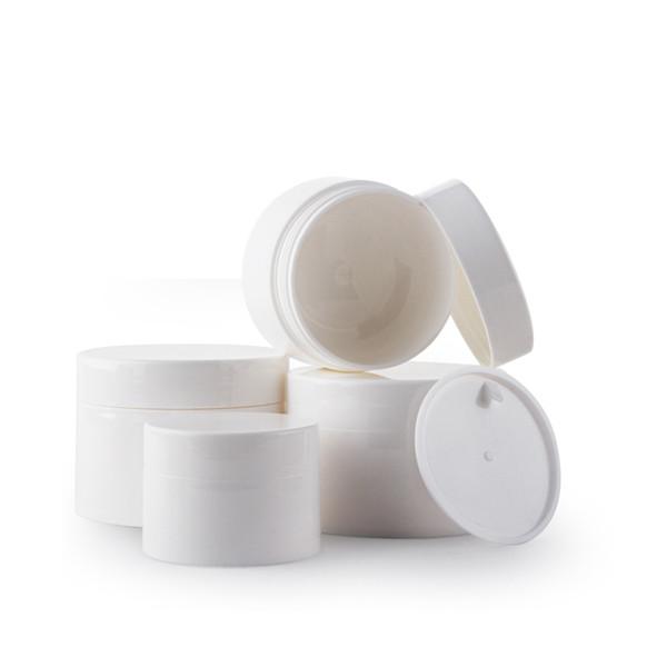 20pcs 50g Vuotare PP Cosmetic di imballaggio in plastica lucida maschere bianche Crema contenitore vasi con coperchi interno piccolo campione Packaging Box