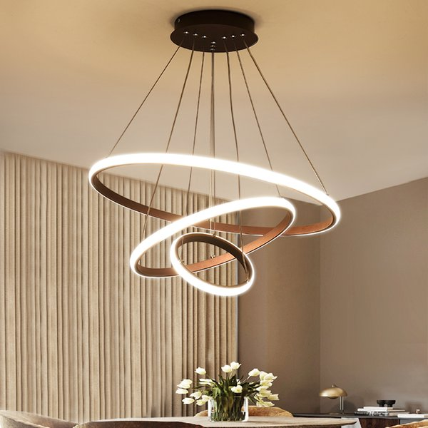 3 anillos led moderna lámpara de araña de acrílico restaurante dormitorio sala de estar araña De Techo Home Lighting AC110V 220V