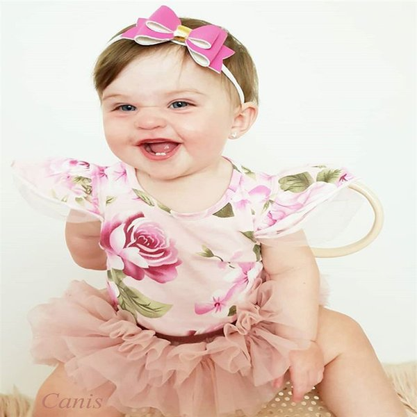2PCS Newborn Toddler Kids Baby Girl Dot Ruffle Dress Tops Shorts Outfits Sunsuit