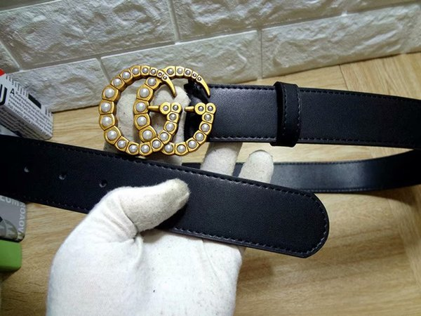 Hot sale classic style buckle with 20 models mens womens riem real picture 100cm-125cm not with box as a gift 80898