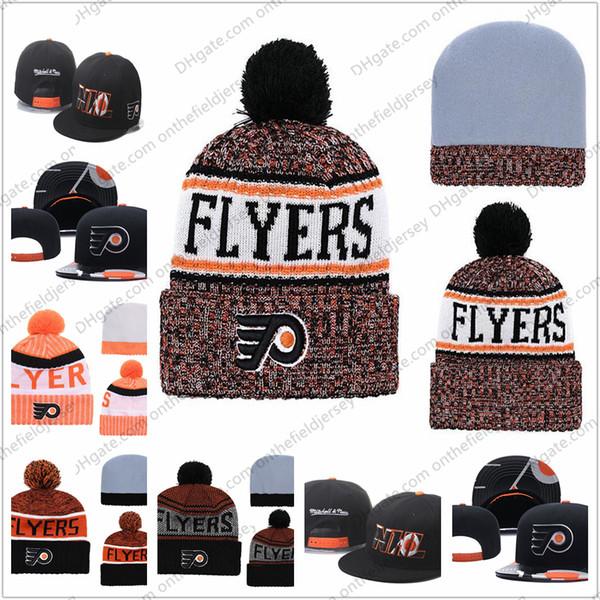 Felpe da uomo Philadelphia Hockey su ghiaccio Hean Knit Beanie ricamo cappello regolabile ricamato Snapback Caps arancione bianco nero cucita maglia cappello