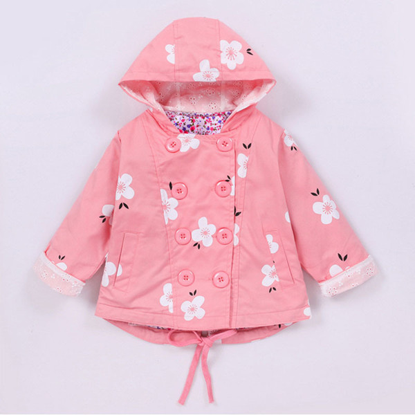 European Style Fashion Windbreaker Girls Jackets Girls Coat Children Clothes 2019 Spring Autumn Kids Clothing New Girl Coat