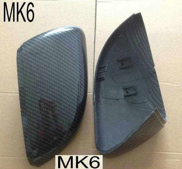 NEW for Golf MK7 Side Wing Mirror Covers Caps 6 7 Replacement MK6 fit VW GTI (Carbon Effect) MKVI MKVII Scirocco Passat B7