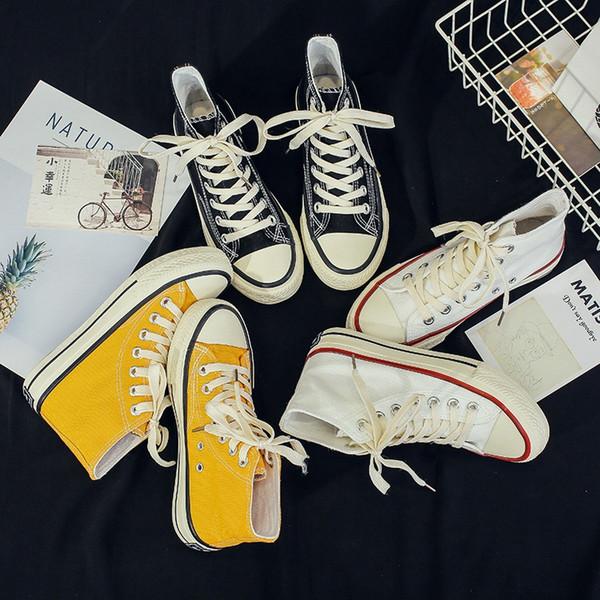 Chaussures d'été Rétro Conseil Mode Chaussures de skate des années 1970 Old American School Ulzzang Plimsolls Vintage Women Teens Casual Chaussures toile