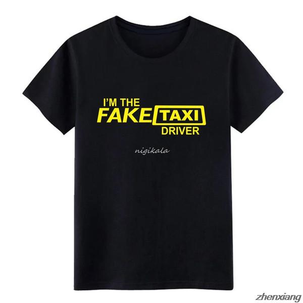 Falso taxista Hombres camiseta Impresión camiseta camisa Carta de primavera s-5XL masculina Regalo divertido