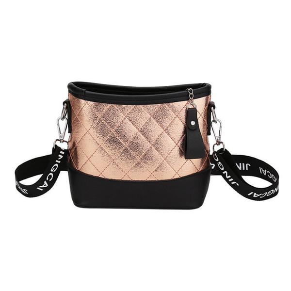 хорошее качествоDiamond Lattice Pu Кожаные сумки через плечо для женщин Широкая полосатая сумка на длинном ремне для женщин Все-женские дамы Повседневная сумка
