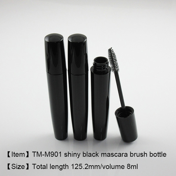e8f380b21c2 TM-M901 shiny black mascara bottle 8ml mascara tube empty cosmetic  packaging free shipping 250pcs