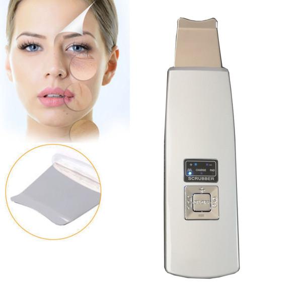 Uso doméstico facial limpo sonic descascador limpeza profunda rejuvenescimento ultra-sônico máquina de espátula purificador de pele Recarregável com casca de pele