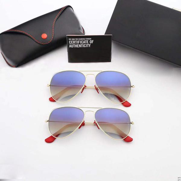 RayBan RB3026 Qualität Luxus einzigartige Sonnenbrille Frauen übergroßen quadratischen Sonnenbrillen für Frauen Marke Designer Mode Retro Sonnenbrille am günstigsten