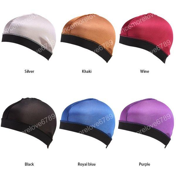 Новая мода унисекс шелковистая купольная шапка широкополосный эластичный парик мягкая и удобная дышащая тюрбан женская шапка аксессуары для волос