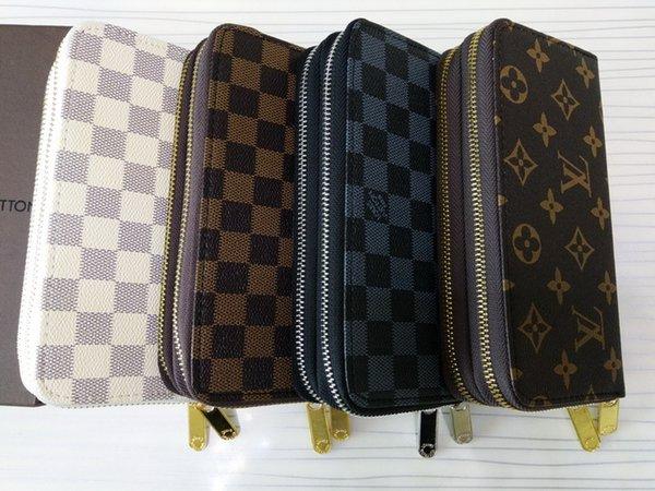 (4 couleurs pour le choix) très populaire récemment !!! porte-cartes porte-monnaie porte-monnaie double portefeuilles pour hommes et femmes
