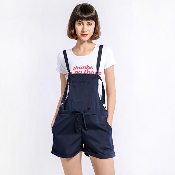 Fashion Women Casual Playsuit Ladies Jumpsuit Pocket Bandage Romper Summer Beach Romper Playsuit