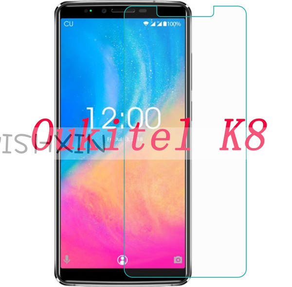 2PCS 2.5D Tempered Glass For Oukitel K8 Protective Film 9H Explosion-proof LCD Screen Protector On For Oukitel K8