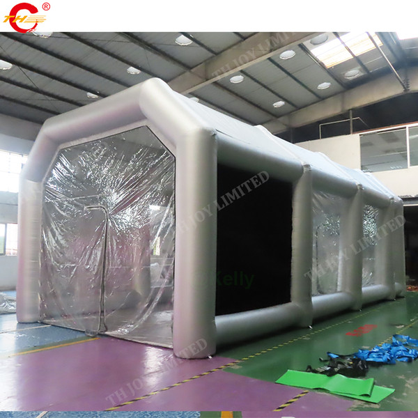 best selling free door shipping Light Moveable Inflatable Spray Paint Booth for Car with Filter System inflatable giant car workstation spray booths