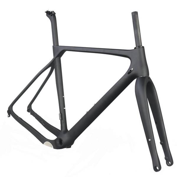 9cdf63469ed Taiwan carbon fiber complete bike frame, disc brake gravel frame Cyclocross Bike  cycling frame