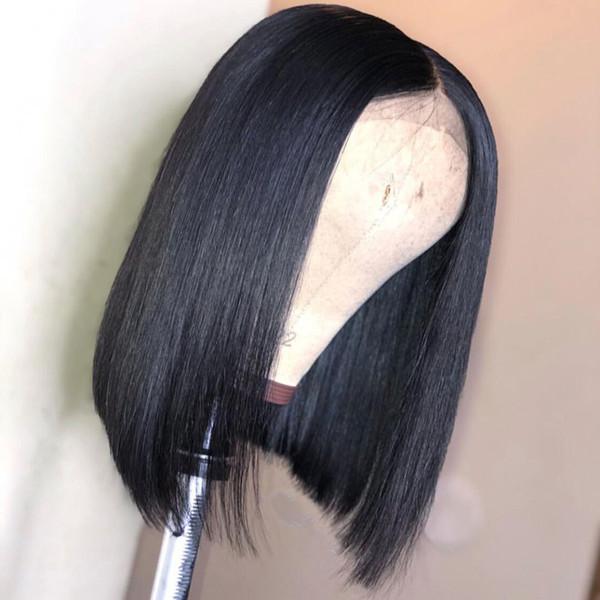 Dantel Ön İnsan Saç Peruk Tam Bitiş Brezilyalı Tam Dantel Remy Virgin Saç Kısa Bob Peruk