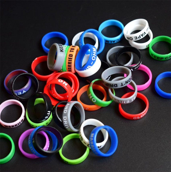 DHL Personalized silicone bracelet customized silicone vape band ring cheap rubber band Silicone Ring 22mm beauty Vapor ring for E Cigarette