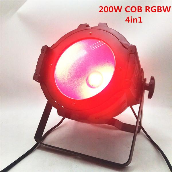 6pcs nouveau super lumineux 200W COB LED par la lumière RGBW 4 en 1 DMX dédié disco DJ fête discothèque scène éclairage / peut être installé porte de la grange