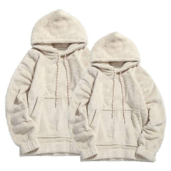 2019 New Style Fashion Hot Men Winter Warm Thick Hoodie Fleece Hooded Solid With Hat Coat Top With Pocket Outwear