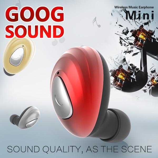 Neue K1 Mini Invisible Kopfhörer Qualität drahtlose Kopfhörer Bluetooth 4.1 Ohrhörer Noise Cancelling Gamer Handsfree Headsets für Iphone Samsung