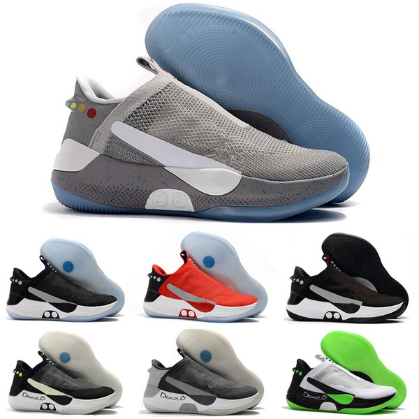 New Mens Designer Adapt BB Mag Basketball Shoes High Quality Lace Engine Dark Grey Black Red Fashion Luxury Sneakers Men Sport Trainers Boys