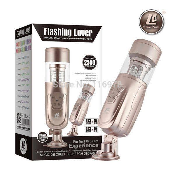 New Easy Love Teles ic Lover 2 Automatic Sex Machine, Rotating And Retractable Electric Male Masturbators, Sex Toys For Men J190519