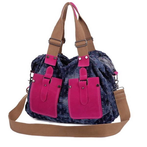 Gran Denim Señoras Bolsos de mano Bolso de mujer Bolso grande Hobo Carteras y bolsos Jean Shopper Tote Messenger Bag Cross body Hombro # 44312