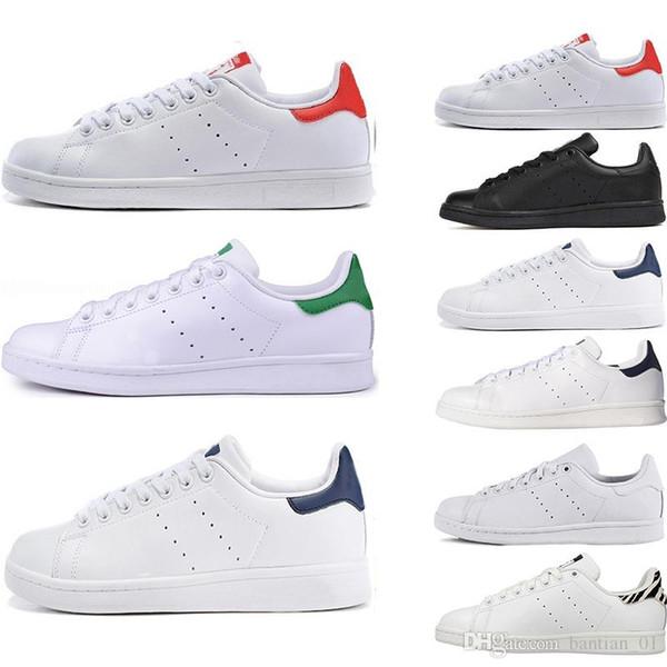 Designer de Moda Stan qualidade Superior Smith shoes Marca mens das mulheres calça casual esportes de skate Sapatos de skate tamanho eur 36-45