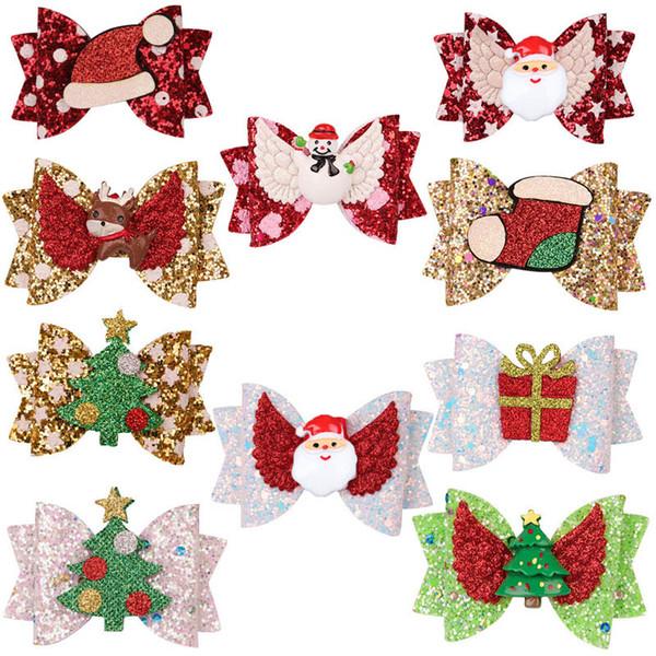 venta caliente arcos de Navidad para el cabello pelo clips chicas niños barrettes de la princesa del bebé A9160 BB accesorios de diseño de clip de pelo de las muchachas del regalo del partido