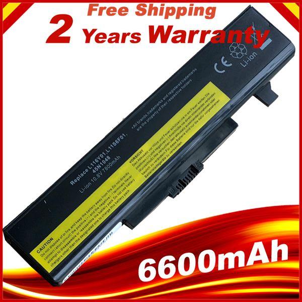 9 Cells 6600mAh Laptop Battery FOR LENOVO G580 Z380 Z380AM Y480 G480 V480 Y580 G580AM L11S6Y01 L11L6Y01