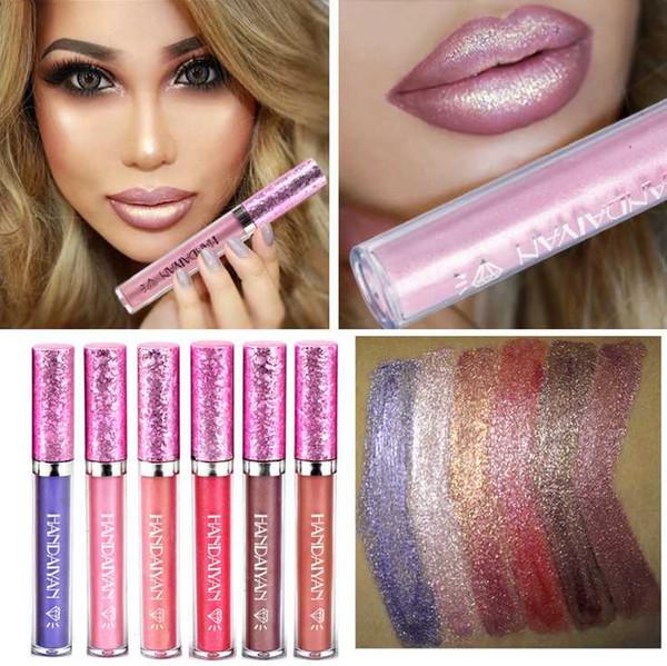HANDAIYAN Hot Sexy lip gloss liquid metal lipstick lasting waterproof matte lipstick Red Color Lip Paint Mermaid Lips Kit makeup