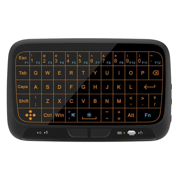 H18 2.4Ghz Backlight Full Touchpad Mini Wireless Keyboard Air Mouse remote controller for Computer TV Box HTPC HD Player