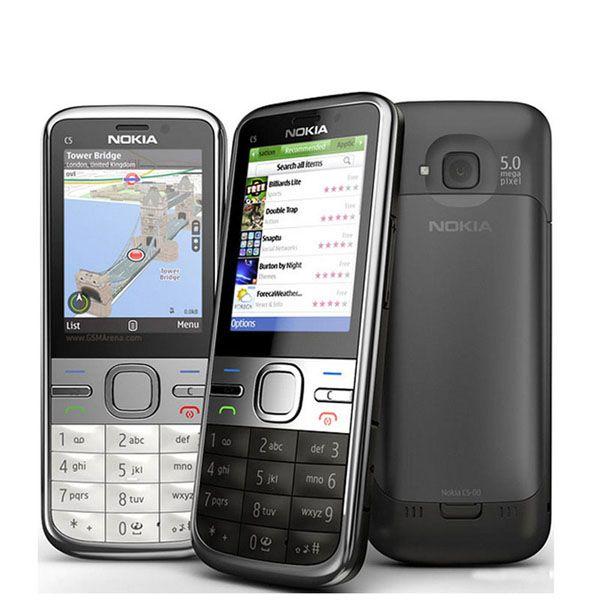 Orijinal Yenilenmiş Kilidini Gsm Nokia C5 C5-00 3G wcdma Cep Telefonu Cep Telefonu Kamera Bluetooth Rusça İngilizce klavye