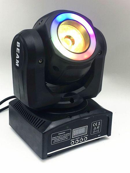 best selling DJ iluminación mini cabeza móvil led 60W haz escenario luz led con 12LED SMD5050 RGB super brillante LED DJ control de luz de punto dmx