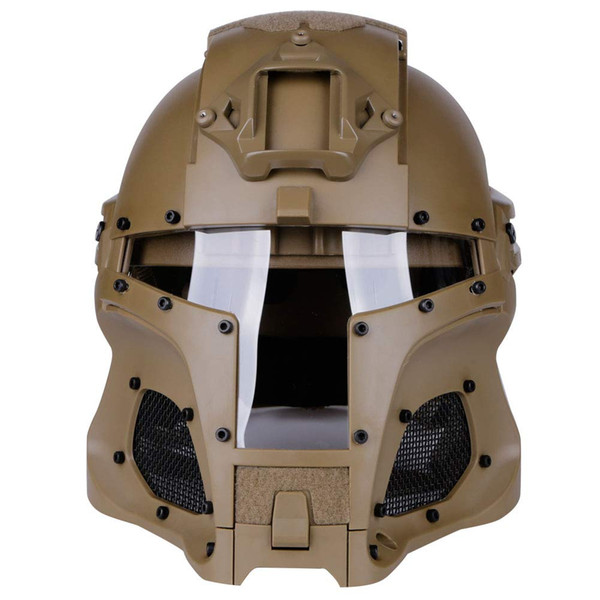 top popular Tactical Ballistic Helmet Side Rail NVG Shroud Transfer Base Army Combat Airsoft Paintball Full Face Mask Helmet 2021