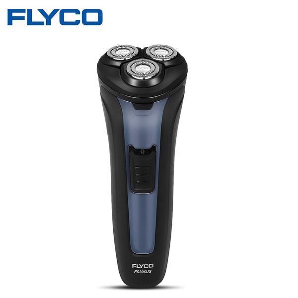FLYCO FS306US rasoio elettrico Con 3D Floating Heads impermeabile completamente lavabile Rasoio ricaricabile uomini rasoio da barba