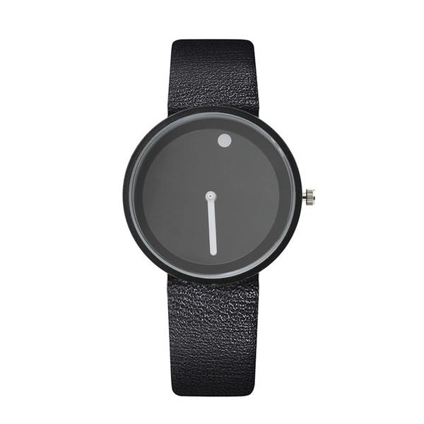 Orologio casuale del quarzo della cinghia della cinghia di ora dell'orologio del punto di bianco della piattaforma girevole di CB