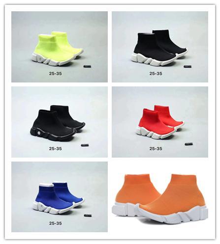 Balenciaga 2019 Niños de diseño Calcetines de punto Calzados deportivos Zapatillas deportivas elásticas para niños Zapatos de diseñador para niñas